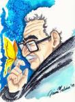 Gabriel Garcia Marquez dibujado